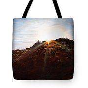Silhouetted Mountain Tote Bag
