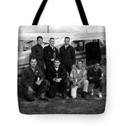 Skydiving Team Posing Airplane Circa 1960 Black Tote Bag