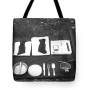 Soldiers Basic Gear 19171930 Black White 1910s Tote Bag