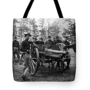 Soldiers Cannon 1898 Black White 1890s Archive Tote Bag