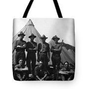 Soldiers Posing In Front Tents 19171918 Black Tote Bag