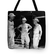 Soldiers Without Shirts 91st Infantry Division Tote Bag