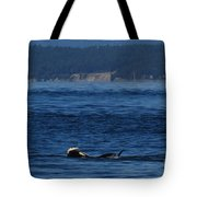Southern Resident Orcas And Salmon Off The San Juan Islands Playing With Salmon Tote Bag