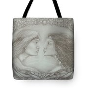 Spring Lovers With Snowdrops Tote Bag