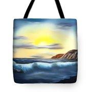 Sunset Beach Pastel Splash Dreamy Mirage Tote Bag