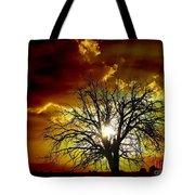 '' Sunset Tree ''  Tote Bag