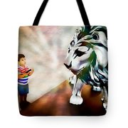 The Boy And The Lion 2 Tote Bag