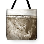 The Crooked River High Bridge Is A Steel Arch Bridge That Spans Oregon Built In 1926  Circa 1929 Tote Bag