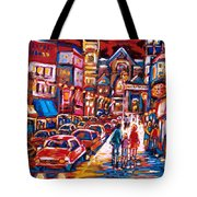 The Night Life On Crescent Street Tote Bag