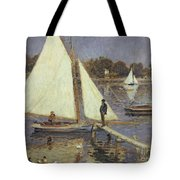 The Seine At Argenteuil Tote Bag by Pierre Auguste Renoir