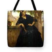 The Spanish Beauty With A Fan Tote Bag