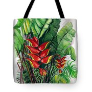 Tiger Claw .. Heliconia Tote Bag