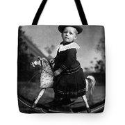 Toddler Rocking Horse 1890s Black White Archive Tote Bag