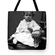 Toddler Sitting In Chair 1890s Black White Boy Tote Bag