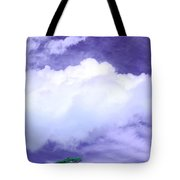 Tree Clouds Hill Tote Bag