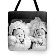 Twins In Baby Buggy 1910s Black White Archive Tote Bag