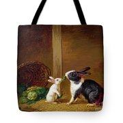 Two Rabbits Tote Bag by H Baert