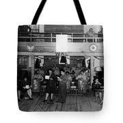 Uso Show May 5 1944 Black White 1940s Archive Tote Bag