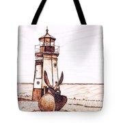 Vermilion Lighthouse Tote Bag