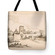 View Of A Walled Town Tote Bag