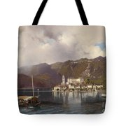 View Of Isola San Giulio In Lake Orta Tote Bag