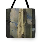 View Of The Woolworth Building Tote Bag