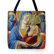 Virgin And Child With Angels Tote Bag