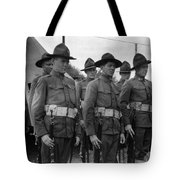 W Soldiers Standing Attention 19171918 Black Tote Bag