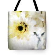White Flower Tote Bag by Linda Woods