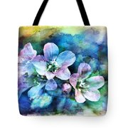 Wildflowers 5  -  Polemonium Reptans - Digital Paint 4 Tote Bag
