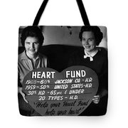 Women Females Heart Fund Sign 19591960 Black Tote Bag