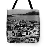 Worlds Fair San Francisco 1915 Black White 1910s Tote Bag