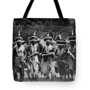 Yurok Indians In Ceremonial Costumes Circa 1905 Tote Bag