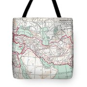 Map Of Macedonian Empire Tote Bag
