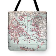 Map: Ancient Greece Tote Bag
