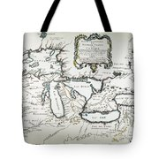 Great Lakes Map, 1755 Tote Bag