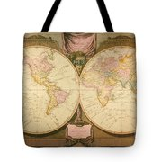 Captain Cook: Map, 1808 Tote Bag