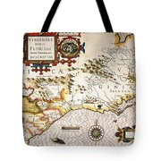 Map: Colonial America, Tote Bag