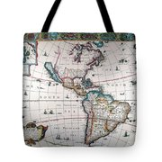 New World Map, 1616 Tote Bag