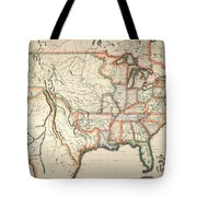 Map: United States, 1820 Tote Bag