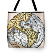 World Map, 1529 Tote Bag