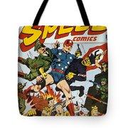 World War II: Comic Book Tote Bag