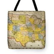 United States Map, 1866 Tote Bag