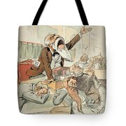 Senate Cartoon,free Silver Tote Bag by Granger
