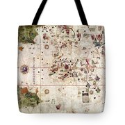 Nina: World Map, 1500 Tote Bag