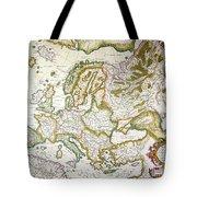 Map Of Europe, 1623 Tote Bag