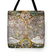World Map, 1607 Tote Bag