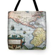 New World Map, 1570 Tote Bag