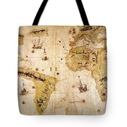 Vespucci's World Map, 1526 Tote Bag