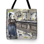 Carry Nation Cartoon, 1901 Tote Bag